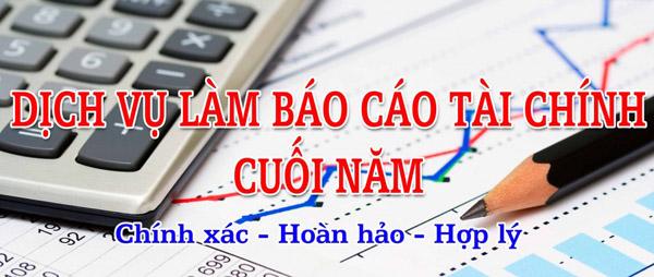 dịch vụ báo cáo tài chính cuối năm giá chỉ từ 300k
